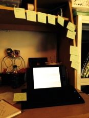 photo of sticky notes on desk